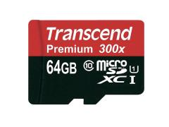 64GB Transcend microSDXC Card with Adapter